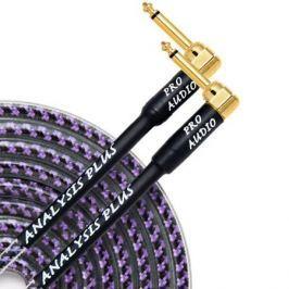 Кабель гитарный Analysis-Plus Pro Oval Studio G&H Plug Gold 8 m (угловой/угловой)