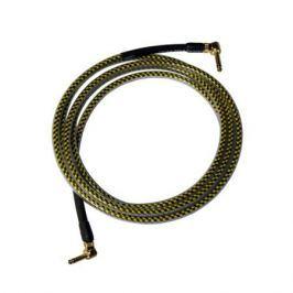 Кабель гитарный Analysis-Plus Yellow Oval G&H Plug Gold 4 m (угловой/угловой)