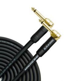 Кабель гитарный Analysis-Plus Black Oval G&H Plug Gold 3 m (угловой/угловой)