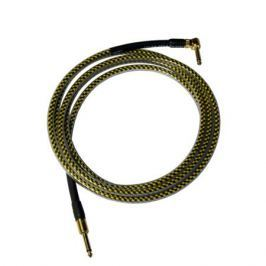 Кабель гитарный Analysis-Plus Yellow Oval G&H Plug Gold 6 m (прямой/угловой)