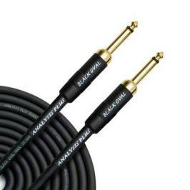 Кабель гитарный Analysis-Plus Black Oval G&H Plug Gold 5 m (прямой/прямой)