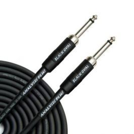 Кабель гитарный Analysis-Plus Black Oval G&H Plug Silver 4 m (прямой/прямой)