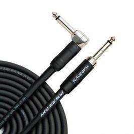 Кабель гитарный Analysis-Plus Black Oval G&H Plug Silver 5 m (прямой/угловой)