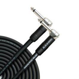 Кабель гитарный Analysis-Plus Black Oval G&H Plug Silver 5 m (угловой/угловой)