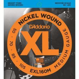 Гитарные струны D'Addario EXL160M (для бас-гитары)