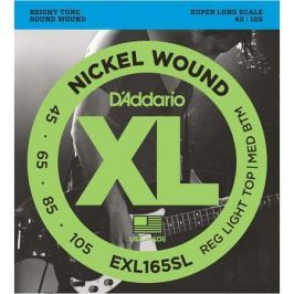 Гитарные струны D'Addario EXL165SL (для бас-гитары)