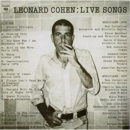 Leonard Cohen Leonard Cohen - Live Songs