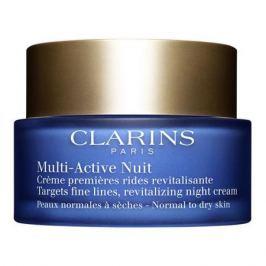 Clarins Multi-Active Ночной крем потив первых возрастных изменений для нормальной и сухой кожи Multi-Active Ночной крем потив первых возрастных изменений для нормальной и сухой кожи