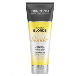 John Frieda Sheer Blonde Go Blonder Шампунь осветляющий для натуральных, мелированных и окрашенных волос Sheer Blonde Go Blonder Шампунь осветляющий для натуральных, мелированных и окрашенных волос