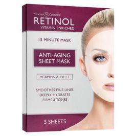 Retinol Антивозрастные тканевые маски с коллагеном и витаминами В и E Антивозрастные тканевые маски с коллагеном и витаминами В и E