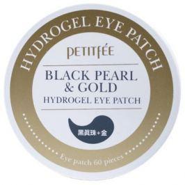 Petitfee Гидрогелевые патчи под глаза с золотом и пудрой черного жемчуга Гидрогелевые патчи под глаза с золотом и пудрой черного жемчуга