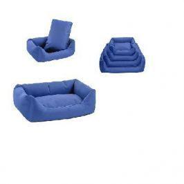 Лежак Дарэлл-Оксфорд №0 прямоугольный с подушкой (45*33*15см) темно-синий