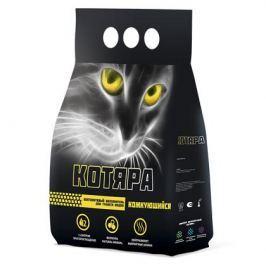 Минеральный комкующийся наполнитель Котяра (полиэтиленовый пакет) для кошек 5кг.