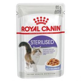 Влажный корм Royal Canin Sterilised для стерилизованных кошек, кусочки в желе, 85 г.