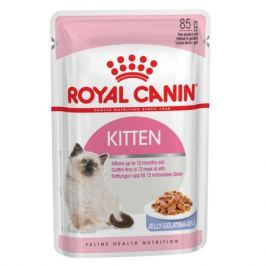 Влажный корм RC Kitten instinctive для котят от 4 до 12 месяцев и для беременных кошек, кусочки в желе, 85 г.