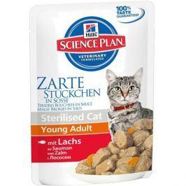 Влажный корм Hill's Science Plan Sterilised Cat для молодых кошек от 6 месяцев до 6 лет с лососем, 85 г.
