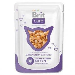 Влажный корм Brit Care для котят курица и сыр пауч, 80 г.