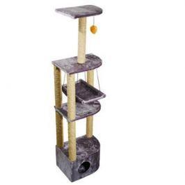 Домик RP8204 когтеточка 4-х уровневый угловой с гамаком для кошки