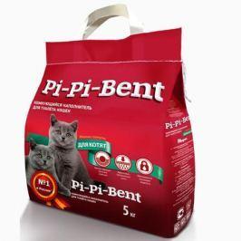 Минеральный комкующийся наполнитель Pi-Pi-Bent (полиэтиленовый пакет) для котят 5кг.