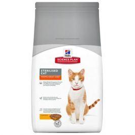 Сухой корм Hill's Science Plan Sterilised Cat для молодых кошек от 6 месяцев до 6 лет курица, 1.5 кг