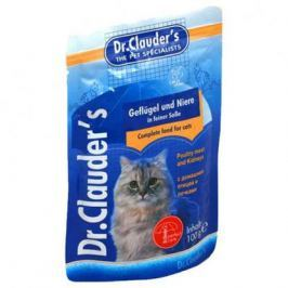 Влажный корм Dr.Clauder's для кошек домашняя птица+почки, 100 г.