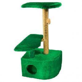 Домик RP8102дз 3-х уровневый угловой (36*49*96) джут зеленый для кошки
