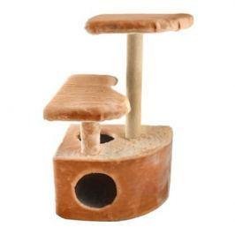 Домик ЧИП 8347 когтеточка 3-х уровневый угловой джут для кошек (48*51*71)