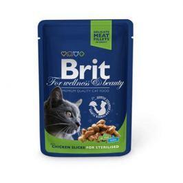 Влажный корм Brit Premium курица пауч для стерилизованных кошек (100 гр)