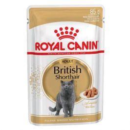 Влажный корм Royal Canin British shorthair кусочки в соусе для британских кошек, 85 г.