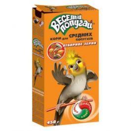 Корм Веселый попугай для средних попугаев отборное зерно (450 гр)