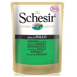 Влажный корм Schesir для кошек филе цыпленка (100 гр)