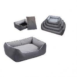 Лежак Дарэлл-Оксфорд №0 прямоугольный с подушкой (45*33*15см) серый