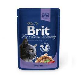 Влажный корм Brit Premium треска пауч для кошек (100 гр)
