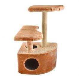 Домик ЧИП 8347к когтеточка 3-х уровневый угловой ковролин для кошек (48*51*71)