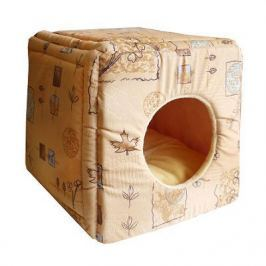 Лежанка ЗЭ Дом кубик-трансформер №1 мебельная ткань (42*42*40)