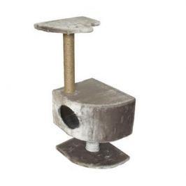 Домик ЧИП 8345 когтеточка 2-х уровневый угловой на ножке джут для кошек (43*35*93)