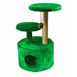 Домик RP8100дз 3-х уровневый круглый джут зеленый (d42*100) для кошки