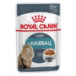 Влажный корм Royal Canin Hairball Care для кошек для выведения шерсти, 85г