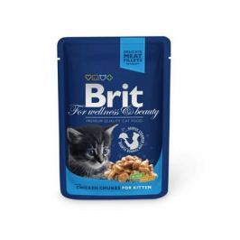 Влажный корм Brit Premium курица для котят пауч (100 гр)