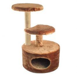 Домик ЧИП 8346к когтеточка 3-х уровневый круглый ковролин для кошек (48*40*71)