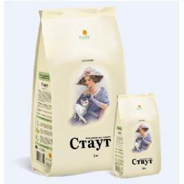 Сухой корм Стаут для взрослых кошек гипоаллергенный ягненок+рис, 2кг