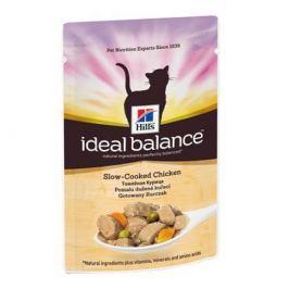 Влажный корм Hill's Ideal Balance для кошек от 1 года до 7 лет с томленой курицей, 85г.