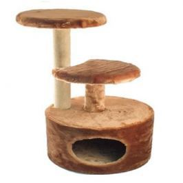 Домик ЧИП 8346 когтеточка 3-х уровневый круглый джут для кошек (48*40*71)