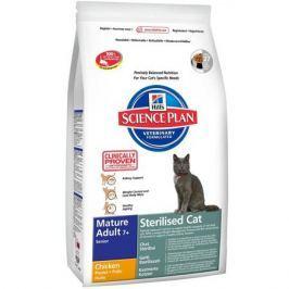 Сухой корм Hill's Science Plan Sterilised Cat для стерилизованных кошек старше 7 лет курица, 300г.