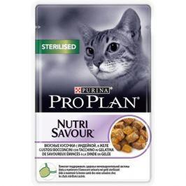 Влажный корм Pro Plan Nutri Savour Sterilised для стерилизованных кошек, индейка, 85г.