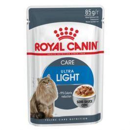 Влажный корм RC Ultra light для взрослых кошек от 1 года против лишнего веса, 85 г.