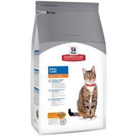Сухой корм Hill's Science Plan Oral Care для взрослых кошек для гигиены полости рта с курицей, 1.5 кг