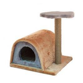 Домик ЧИП 8350 когтеточка 2-х уровневый с полукруглой крышей джут для кошек (43*35*71)