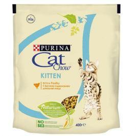Сухой корм Cat Chow домашняя птица для котят, 1.5кг