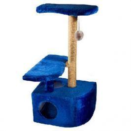 Домик RP8102дс 3-х уровневый угловой (36*49*96) джут синий для кошки